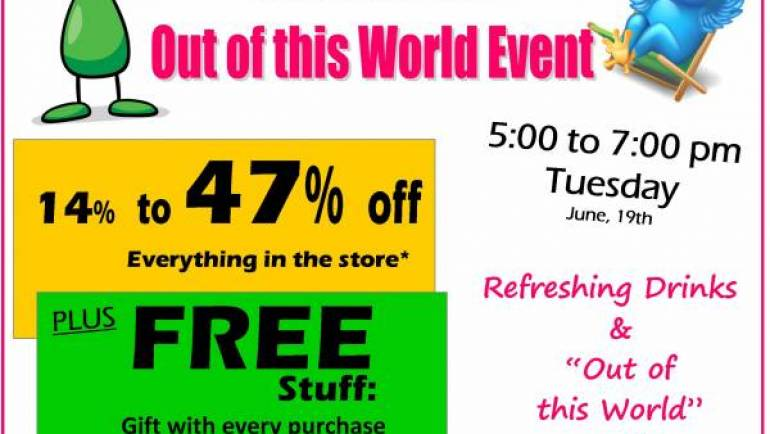"""SIZZLING SUMMER AFTER HOURS """"OUT OF THIS WORLD"""" EVENT!"""