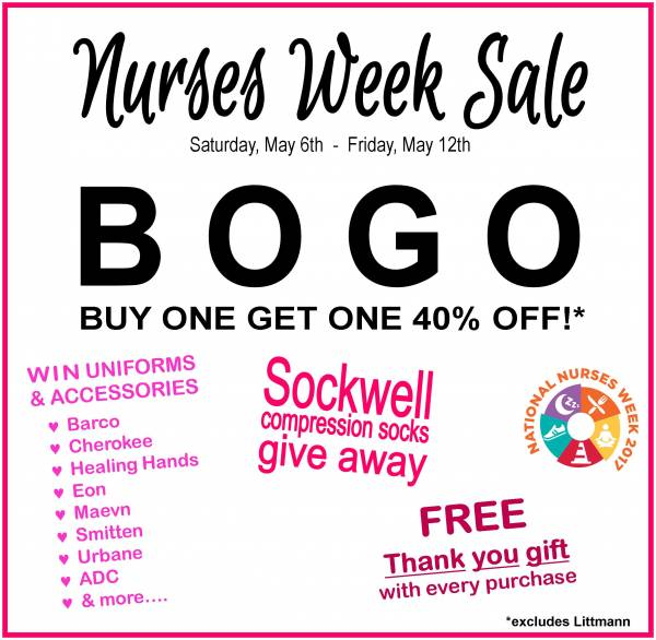 NURSES WEEK SALE!