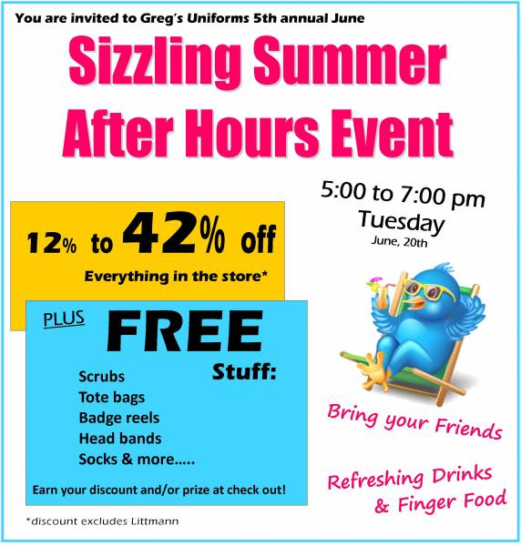 SIZZLING SUMMER AFTER HOURS EVENT!