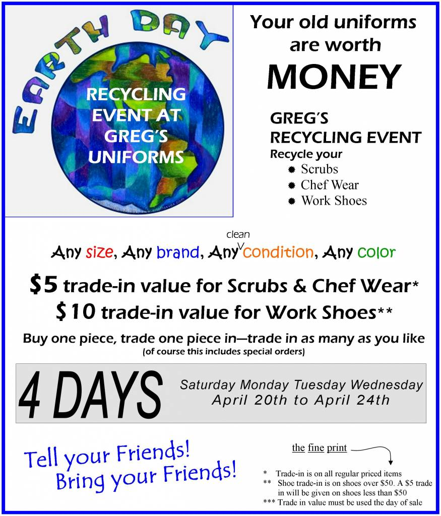 Earth Day Trade-In Sale April 20-24